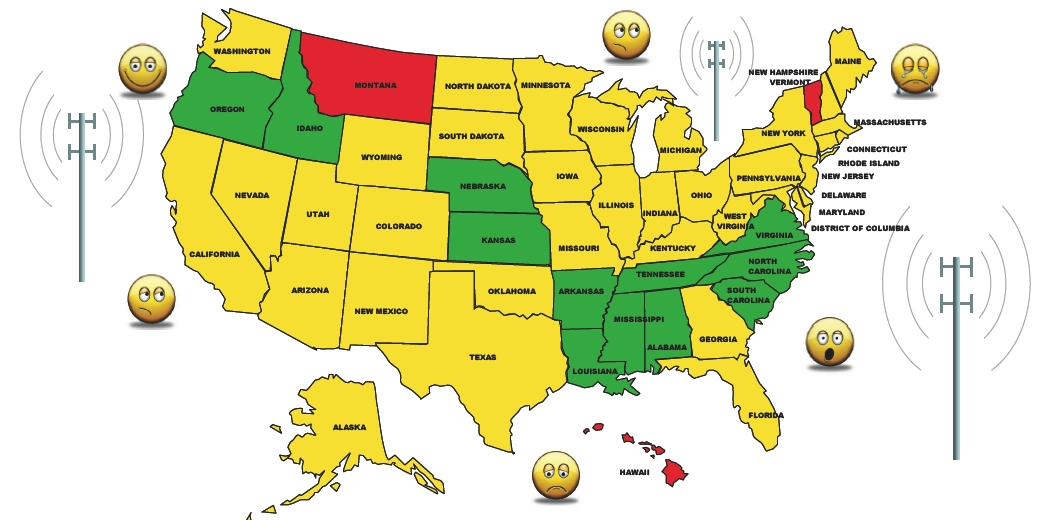 BRAG Antenna Ranking Of Schools Graphics Charts And Highlights - Color coded map of us