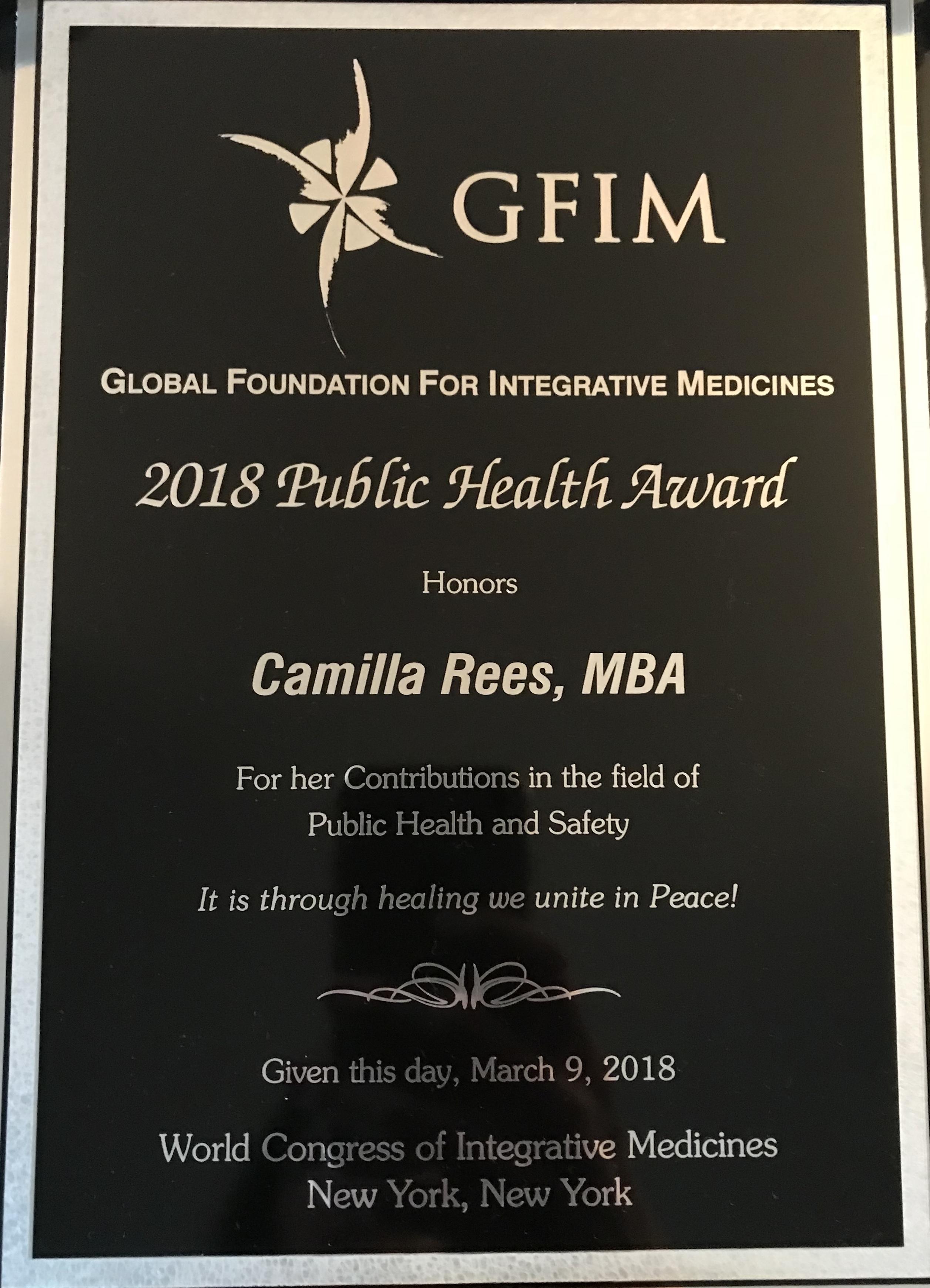 GFIM award Rees (2)